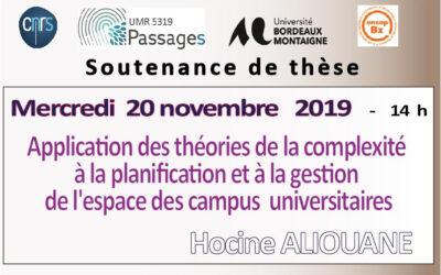 Soutenance de thèse Aliouane Hocine 20 novembre