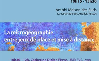 3e Journée d'étude de l'Atelier Microgéographie, 12 mars